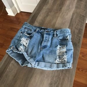 Forever 21 Distressed Shorts sz 30